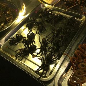 Khmer Street Food - gegrillte Vogelspinne