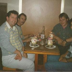 Kollegen Micha Mehles, Reinhold Holzbrecher, Hans Lange und Kollege Maulbetsch
