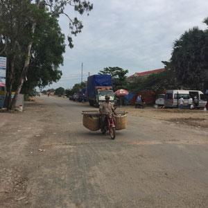 mit Mangos beladen von Kambodscha nach Vietnam