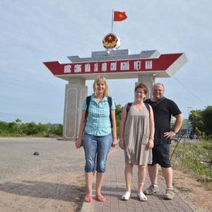 an der Kambodschanisch - Vietnamesischen Grenze Ha Thiem