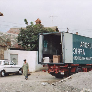 entladen in Tetuan/Marocco