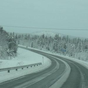 Fernstrasse in Finnland