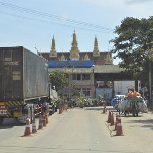 Grenze nach Kambodscha