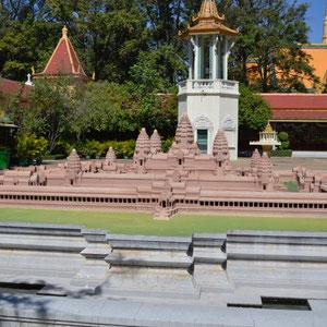 Model von Angkor Wat in der Palastanlage