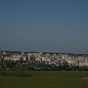 Blick auf Lviv vom 103 Meter Staiger