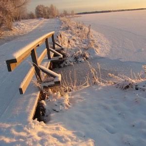 eine wunderschöne Landschaft am Polarkreis (Lappland)