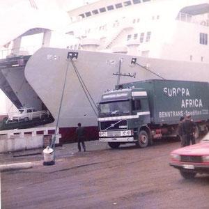 """vor der """"Habib"""" das damalige Flagschiff der CTN (Compagne Tunisienne de Navigation)"""