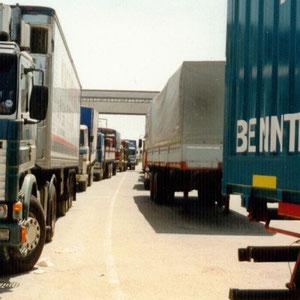 im Hafen von Chania auf Kreta.Warten auf das Schiff