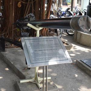 in der Ausstellung ist einiges an Kriegsgerät der Amerikaner zu sehen