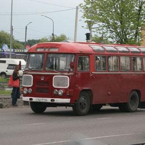 ein Bus in Lemberg/ Lviv