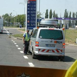 auf dem Rückweg Richtung Kiev - Polizeikontrolle
