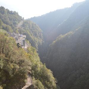 Blick vom Staudamm