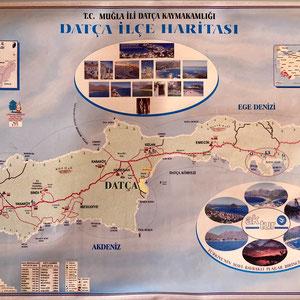da geht es hin. Halbinsel Datça
