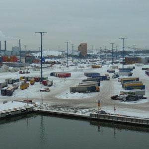 der Hafen in Helsinki (Vuosaari)