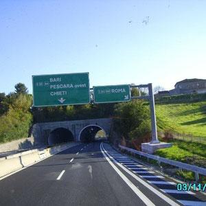 Richtung Bari