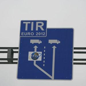man beachte die EURO 2012 - Spur
