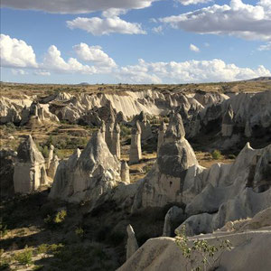 die schöne Landschaft in Cappadokien