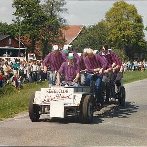 """Tamdemrennen 1985 in Ohrte  Kegelclub """"Ewige Pumpe aus Bippen"""""""