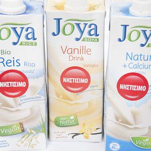 Pflanzenmilch in verschiedenen Geschmacksrichtungen von Joya.
