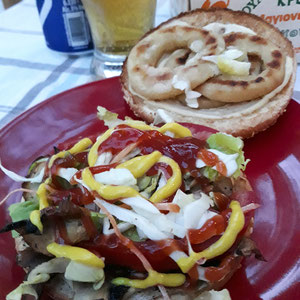 Veggie Burger vegan Pizza Fan