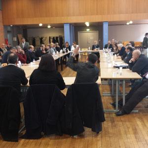 Réunion à Toulouse, avec les présidents d'associations Harkies, le 21 02 2015