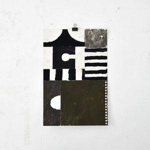 Sasha Pichushkin: Collage_3, 2016 Mischtechnik auf Papier, 30 x 42 cm, Galerie SEHR 2017