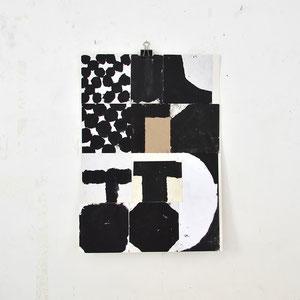 Sasha Pichushkin: Collage_2, 2016 Mischtechnik auf Papier, 30 x 42 cm, Galerie SEHR 2017