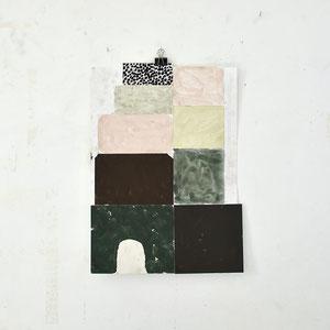 Sasha Pichushkin: Collage_4, 2016 Mischtechnik auf Papier, 30 x 42 cm, Galerie SEHR 2017