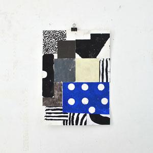 Sasha Pichushkin: Collage_6, 2016 Mischtechnik auf Papier, 30 x 42 cm, Galerie SEHR 2017