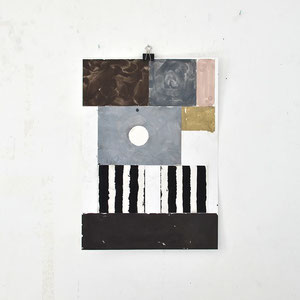 Sasha Pichushkin: Collage_7, 2016 Mischtechnik auf Papier, 30 x 42 cm, Galerie SEHR 2017