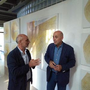 2017 - Con il prof. Massimo Bignardi direttore della Fondazione Regionale Arte Contemporanea di Baronissi - Salerno.