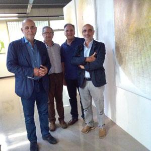 2017 - Il prof. Massimo Bignardi, l'artista Giuseppe Di Muro, l'artista Angelomichele Risi, Enzo Cursaro.
