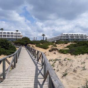 Blick vom Strand, Hotel Iberostar Royal Andalus, Costa de la Luz, Spanien