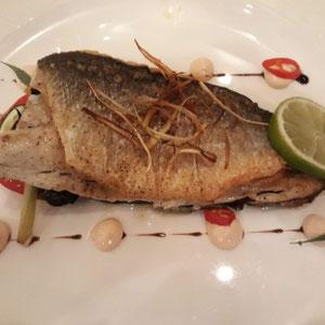 glutenfreier Fisch, Hotel Eden Roc, Rhodos