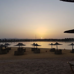 Sonnenuntergang Coraya Bay, Marsa Alam Ägypten