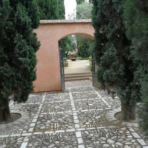 Innenhof, Alcazar, Jerez de la Frontera, Spanien