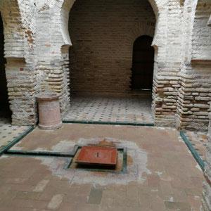 Brunnen, Innenhof, Alcazar, Jerez de la Frontera, Spanien
