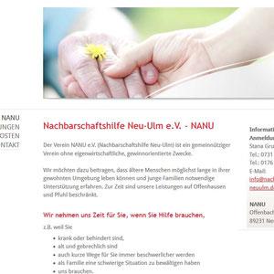 Konzeption, Webdesign und technische Umsetzung l www.nachbarschaftshilfe-neuulm.de