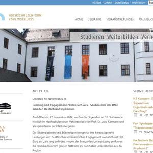 Website Optimierungen und technischer Support l www.hochschulschloss.de
