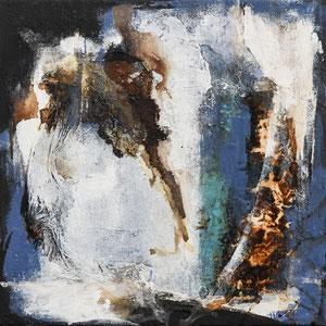 """3 Acrylbilder, """"Broken Wall"""", 30 x 30 cm, Preis für 3 Bilder: 450,- €"""