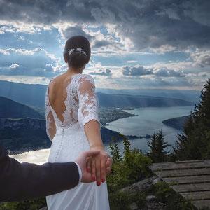 Mariage Portrait de Couple Lac d'Annecy Col de la Forclaz