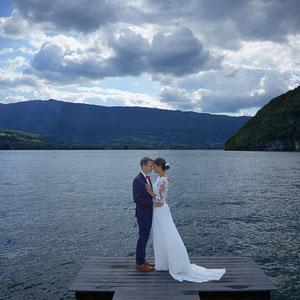 Mariage Portrait de Couple Lac d'Annecy Talloires