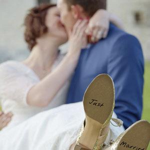 Mariage Portrait de Couple just married