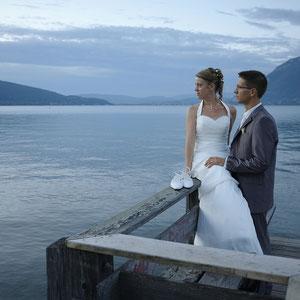 Mariage Portrait de Couple lac d'Annecy