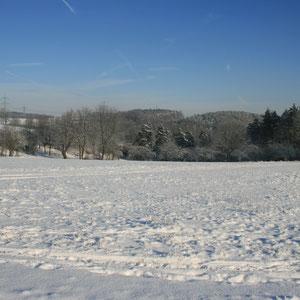 Blick auf den Hundsgraben im Winter