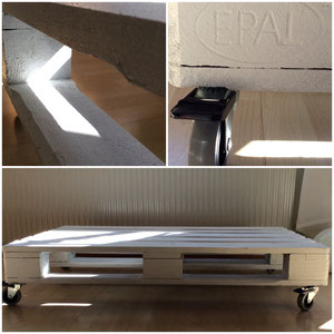 Tisch für drinnen oder draussen. Erweiterbar mit Metall oder Glas