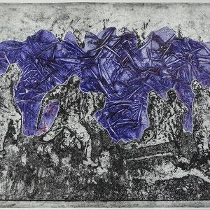 """""""DunkelZeit"""", Radierung, Prägedruck, 25 x 33 cm"""