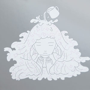 "祈りの夢""milk on a silver plat""(210×297mm)NO.   / SP-13-3"
