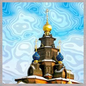 · motiv-untersetzer · set 9.3 · zwiebeleltürme I · yak © 2005 RK (Gifhorn Holzkirche des Heiligen Nikolaus)