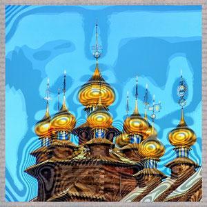 · motiv-untersetzer · set 11 · zwiebeleltürme II · yak © 2005 RK (Gifhorn Glocken-Palast)